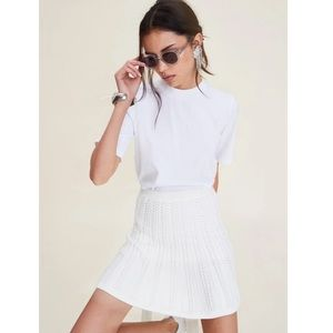 LPA   243 White Knit Skirt